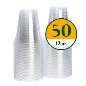Plastic Cup Crystal Clear PET 12oz Squat