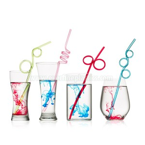 ສີ PVC Loop Straws Assorted