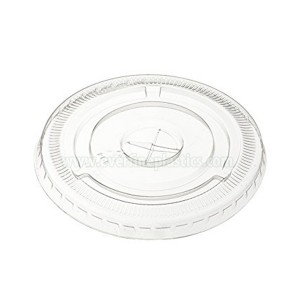 Flat PET Cup Deksels, Past 12 oz.  - 24 oz.  Cups, Clear
