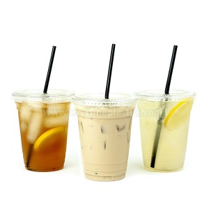 Black Plastic Straws, 7 3/4 Inches, Jumbo Pack