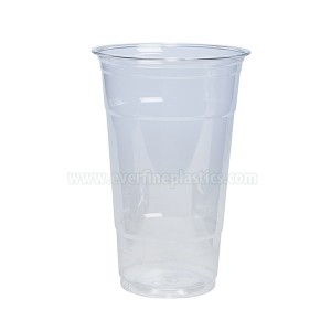 Coupe en plastique PET Crystal Clear 24 oz