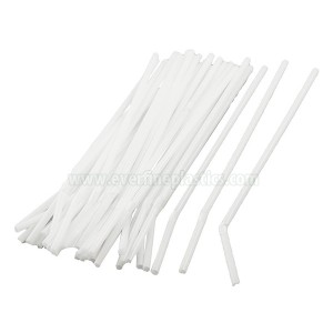 6X197mm individually paper wrapepd flexible plastic straws