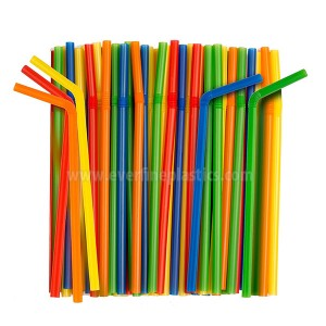 Assorted Colors Giant Smoothie Flexible Straws