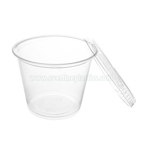 Plastic Portion Cup met Deksel 5.5oz
