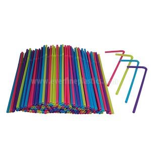 8 3/4 Inches plastične fleksibilne slamice