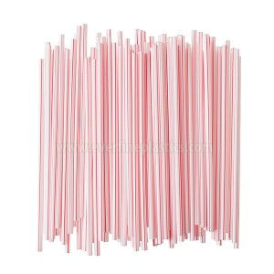 Ferdî, Paper Wrapped Plastic Milkstraws Kawa Stirrers 5 3/4 Inches
