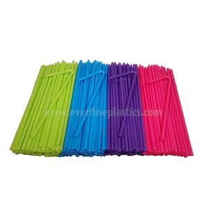 8 3/4 po en plastique flexible Straws