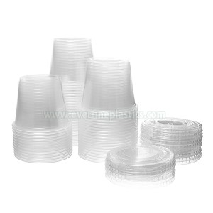 Plastic Portion Cup with Lid 5.5oz
