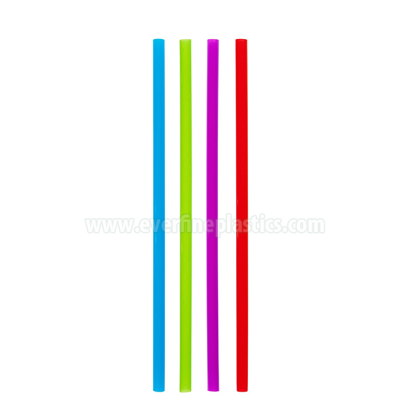 Plastic Large Straight Straws 8 1/4 Inches, Neon Assorted Colors Featured Image