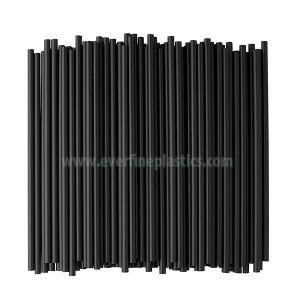 Cello Individually Wrapped Black Plastic Straws, 7 3/4 Inches