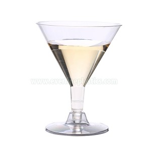 Plastic Cups - 5oz Martini Glass